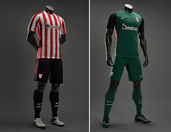 Equipación del Athletic Club Bilbao: camiseta, pantalon y medias